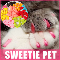 Free Shipping 20 pcs/lot  Pet Dog Cat Finger Grooming Floor Protect  Pet Dog Cat Nail Caps Claw Control Soft Paw Caps S ,M,L,XL