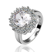 Exquisite Rings platinum plated with CZ diamond,18K gold plated fashion Jewelry,Wholesale R028
