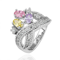 Wholesale 18K gold plated Jewelry,Luxury Classic Colorful Rhinestone Women Wedding Rings,Hot sale R206