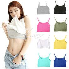 HOT SELL Women's Sexy Sports Cotton Short Tank Top Boob Tube Top Bra Casual Sleeveless Wholesale BD0105 FREE SHIPPING(China (Mainland))