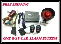 One Way Car Alarm System Auto Security System Anti-theft System HL-9999-C075 With 2pcs Remote Fit For All cars Free Shipping