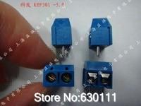 "FREE SHIPPING 100PCS KF301-2P KF301-5.0-2P KF301 ""- ""Screw 2Pin 5.0mm Straight Pin PCB Screw Terminal Block Connector"