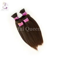 Free Shipping!! Virgin Brazilian Bulk Hair 3pcs lot Silk Straight 100% Virgin Human Hair Bulk