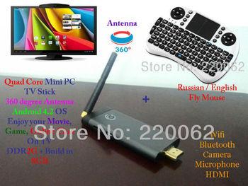 Free Shipping  Quad Core RockChip 3188 ARM Cortex-A9 1.8GHz Skype Camera Dongle Mini PC 2GB/8GB WiFi Bluetooth Skype