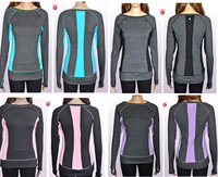 2013 Hot salling !Women's Tee DISCOUNTlululemon long sleevesFree shipping wholesale lulu lemon new T-shirt/Long Sleeves in grey