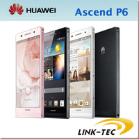 "100% Original Huawei Ascend P6 2G RAM 8G ROM phone 4.7"" Gorilla glass K3V2 Quad Core 1.5Ghz android 4.2 smartphone Pink -11"