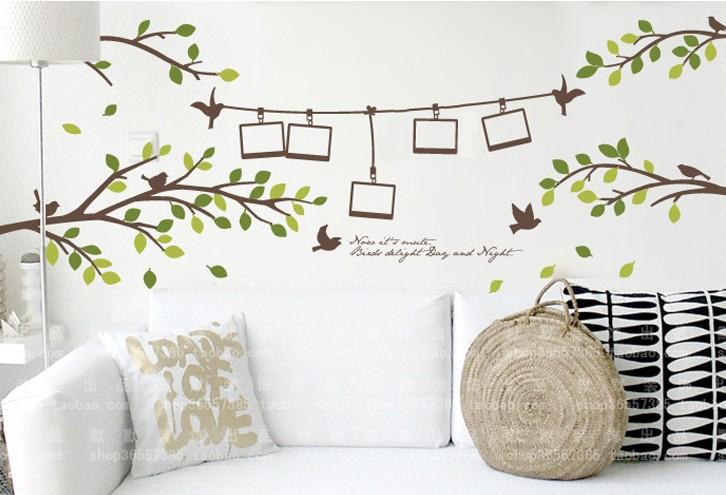 Muurstickers Slaapkamer 3d : DIY Tree Branch Photo Wall Frame