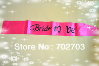 Dark Pink Satin Hens Party Sash For Hen Party Decoration 2pcs/lot
