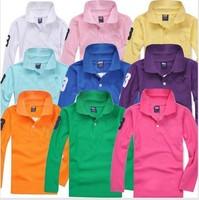 Free shipping BIG SIZE kids po,lo t shirt summer children long sleeve t shirt, boys T-shirt  sport shirt  4pieces/lot