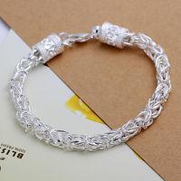 Wholesale! Free Shipping Wholesale 925 silver bracelet, hot sell 925 silver fashion jewelry Shrimp Lock Bracelet&Bangle