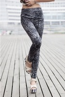 2013 Women's Fashion Seamless Imitation Jean Leggings Color Printing of The Grey Leopard Print Leggings