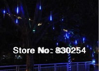 New Blue Color LED Meteor Shower Rain Tube Lights Outdoor Tree Decoration Free Shipping