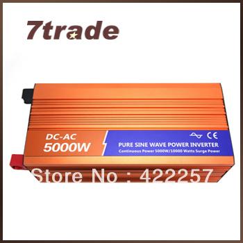 Free Shipping Solar Energy Inverter 5000W 12V 110V DC to AC Step Up Power Function(China (Mainland))