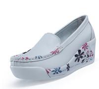 Fashion Genuine Leather Women Sneakers Swing Shoes Ladies Nurse Shoes Sport Footwear  EUR35-40