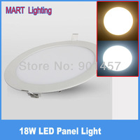 18W 1750lm  ultra-thin led ceiling  panel lights warm and day white  SMD3014 readroom lighting