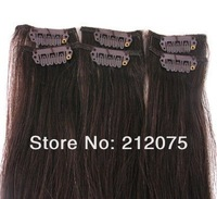 """12""""-30""""inches 6pieces/30grams/sets  Brazilian Virgin straight hair Clip in Extensions"""