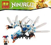 Hot Sale! Phantom Ninja series Ice Dragon Attack Ninjago Minifigures toys building block sets toy eductional toys 9729