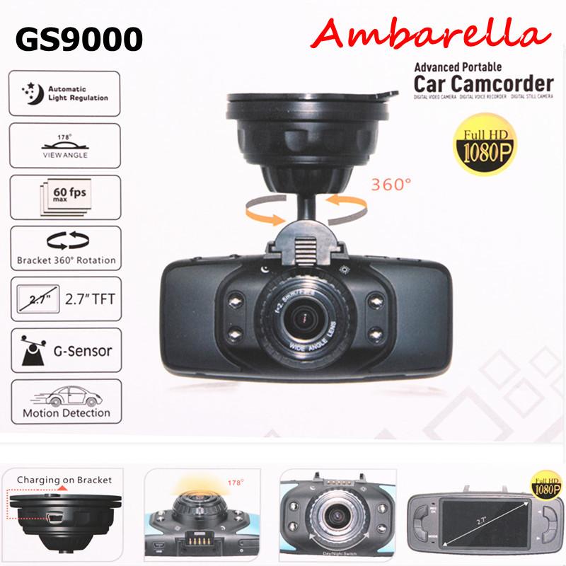 """Car black box Ambarella Newest Original GS9000 Car DVR 2.7"""" LCD H.264 HDMI G-Sensor 178 Degree Wide Angle FHD1080P Recorder cam(China (Mainland))"""