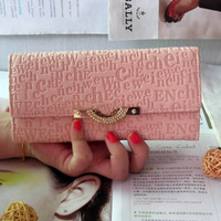 new fashion lady women long purse clutch wallet bags PU handbag with chain gift quality free shipping