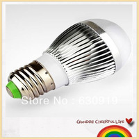 Dimmable E27 12W Led bubble ball bulb 85V-265V energy saving lamp free shipping 15pcs