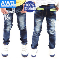 Free Shipping new 2014 autumn new arrival children trousers boys jeans baby denim jeans for 3-10years boys jeans Retail