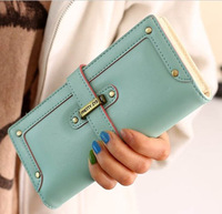 new fashion lady women purse long wallet bags quality handbag leather  PU Pumping belt style free shipping gift