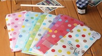 Free shipping (150pcs/lot)17.5x8.7cm Lovely Colorful Dots Design Envelope, Paper Gift Envelope Wholesale