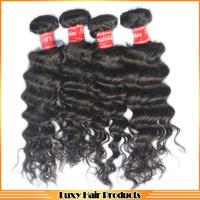 6A grade Brazilian Deep wave hair 25% off sale mix length 4 pcs / lot , free shipping 6A queen virgin  unprocessed hair weave