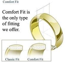 Christian Cross Engraved Tungsten Ring Flat Wedding Band size 6 18 NR04CF