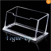 New Clear Plastic Business Card Holder Display Stands Shelf Desk Wholesale