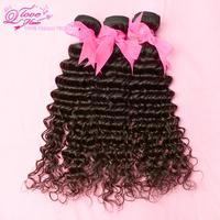 3pcs/lot Q love hair products,brazilian virgin hair gaga hair deep wave,100%human hair unprocessed hair  Free shipping