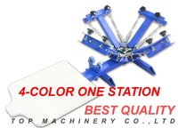 4 Color 1 Station Professional T-shirt round turn Screen Printing Machine ,T-shirt printer, DIY  T-shirt Printer