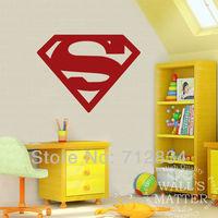[B.Z.D] Free Shipping Huge Superman Morden Art Vinyl Removable Wall Decor Stickers Murals Decals Stencils 80x60cm