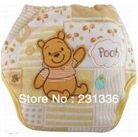 10pcs/ lot Cute Animal Cartoon Bamboo Cloth baby training pants absorption Waterproof urine Pants 9 color Free Shipping