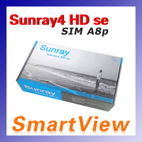 1pc Sunray4 HD se SR4 800HD se 3 in 1 tuner -T -C -S(2S) Triple tuner wifi with Sim A8P Card Satellite Receiver free shipping