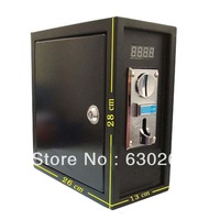 CH-168 mutil coin operated Timer Control box Power Supply (black) with multi coin selector accept different 6 kinds of coin
