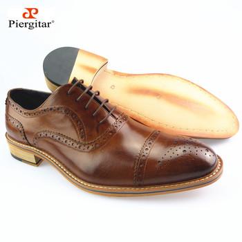 High end Men Oxfords Shoes Натуральная кожа Formal Shoes Коричневый Размер 39-45