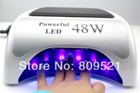 Free PP 60W 110v-240v white ccfl+led  EU plug/US plug Nail Art Uv Gel Curing Lamp Dryer Salon Nail  TIMER SPA H3