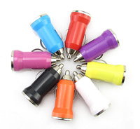8pcs Color USB Car Charger Head Vehicle Power Adapter for USB Device Smart Phones