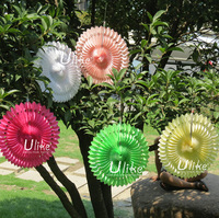 12inch 200ps Mixed Color Honeycomb  Flower lantern Fan design paper lanterns foldable lantern Tissue fans Craft idea Cute Party