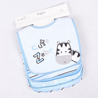 Cotton baby bibs burp cloth boys bib and girls bibs waterproof bib 5 piece of lots free shipping z54