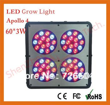 4pcs/lot free shipping Apollo 4 60*3W grow light 180w led grow light