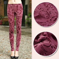Luxury velvet women leggings trousers high quality 9-pants fashion female panties capris American European lady slim pant