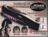Wholesale Power Grow Laser Comb Kit Regrow Hair Loss Therapy Cure Retail Packing Free Shipping