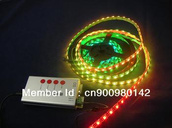 ws2812B ws2811 built-in rgb chip,60led/m,black pcb, waterproof IP65,dc 5v smd5050 digital dream color rgb led strip