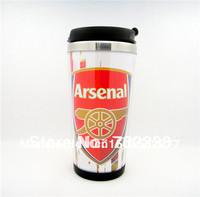 Free Shipping New Arsenal football fans Stainless Steel Thermal Tumbler 12 OZ Travel Mug Coffee Mug Cup tea cup  birthday gift