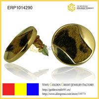 FREE SHIPPING fashionable zinc alloy big round button shaped women earrings stud earrings