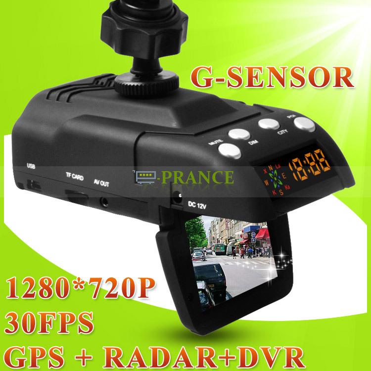 Car Radar+Camera DVR+GPS 3 In 1 GR-H8 Anti Radar Detector Support Russian Voice + HD