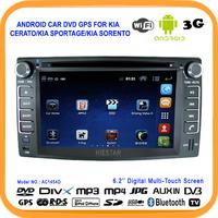 Touch screen Android Car dvd player GPS for KIA CERATO/KIA SPORTAGE/KIA Sorento With GPS Radio,Bluetooth,USB/SD+Support Wifi 3G