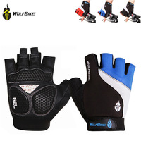 WOLFBIKE Brand Non-slip Short Gloves Road MTB Motorcycle Cycling Bike Bicycle Racing Riding Breathable  Half Finger Gloves